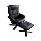 PU Leather Lounge Recliner Chair Ottoman