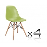 Set of 4 Replica Eames Eiffel DSW Dining Chair Green