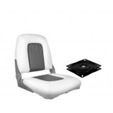 Swivel Folding Marine Boat Seat Charcoal White