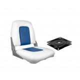 Swivel Folding Marine Boat Seat Blue White