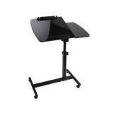 Rotating Mobile Laptop Adjustable Desk Black