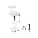 1 x PU Leather Stainless Steel Bar stool - White