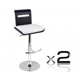 Set of 2 Wooden Bar Stool Kitchen Chair Niomi Black