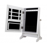 Mirror Jewellery Cabinet stroage Table White