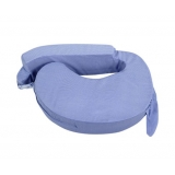 Baby Breast Feeding Support Memory Foam Pillow with Zip Cover Blue