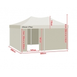 3m x 6m Folding Outdoor Gazebo Marquee - White