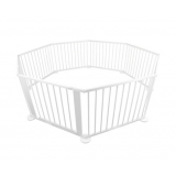 Baby Natural White Wooden Playpen