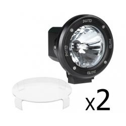 2 x 4 Inch HID Spiral Spot Driving Lights 55W Black